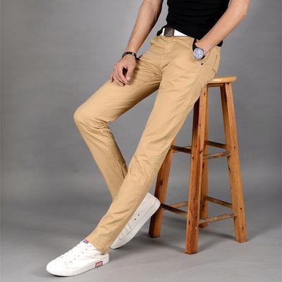 夏季薄款男士直筒休闲裤百搭韩版潮流修身小脚男生长裤子黑色西裤