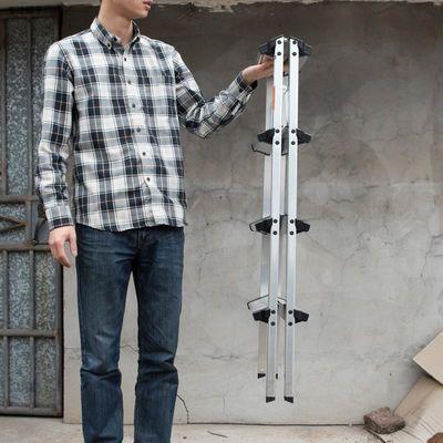 蝶意 双面铝合金梯子家用折叠梯 日式双层人字梯 家用凳梯 轻便