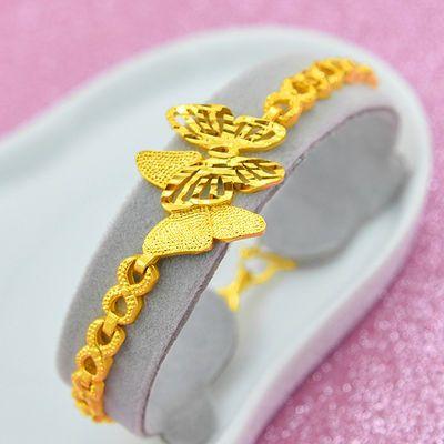 新品黄金手链女貔貅越南沙金欧币金久不变色镀金情侣手链情人节送