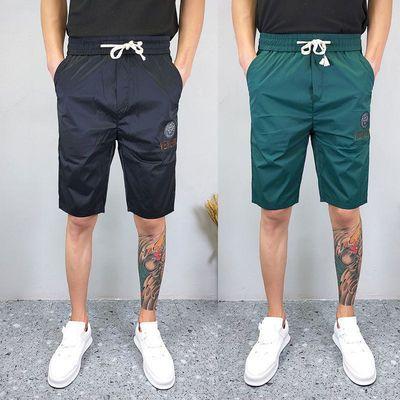 夏季新款牛奶丝五分裤社会小伙显瘦短裤男网红ins百搭休闲沙滩裤