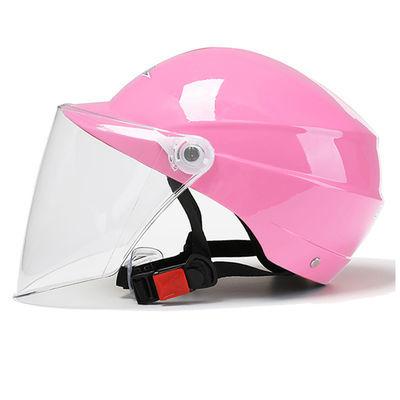 摩托车头盔男电动车头盔女夏季半盔防雨防�鸱雷贤庀咔岜闶桨踩�帽