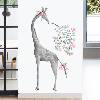 可爱猫咪卡通儿童房墙贴玄关门贴卧室贴纸装饰品墙壁墙纸自粘墙画