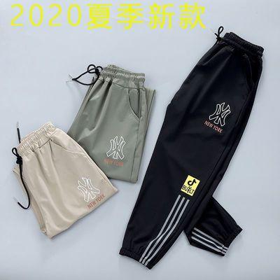 儿童裤子2020夏季新款男孩薄款冰丝速干运动裤中大童休闲束脚长裤