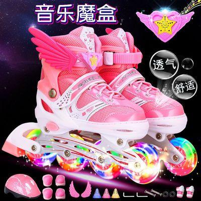 溜冰鞋儿童全套装3-5-6-8-10岁旱冰鞋滑冰鞋男女轮滑鞋男女初学者