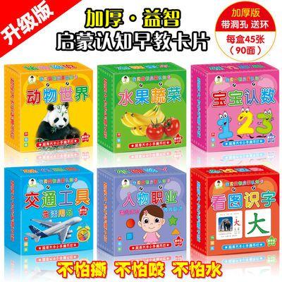 儿童书籍0-6岁幼儿早教书婴儿益智玩具宝宝看图识字数字认知卡片