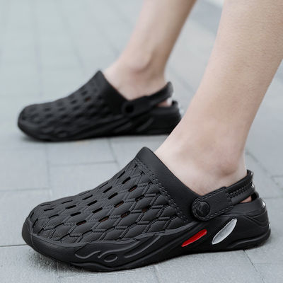 洞洞鞋男士夏季韩版潮流室外沙滩鞋凉拖个性半拖两用凉鞋潮男拖鞋