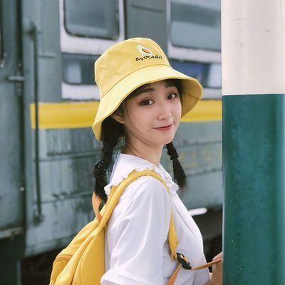 帽子女夏天甜美可爱学生遮阳帽防晒出游韩版百搭日系小清新渔夫帽