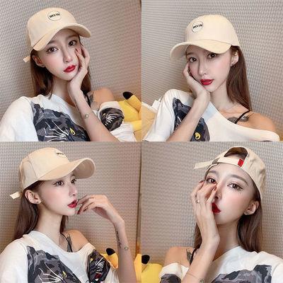 【帽子】鸭舌帽女ins韩版学生圆脸百搭潮流棒球帽男防晒 遮阳帽