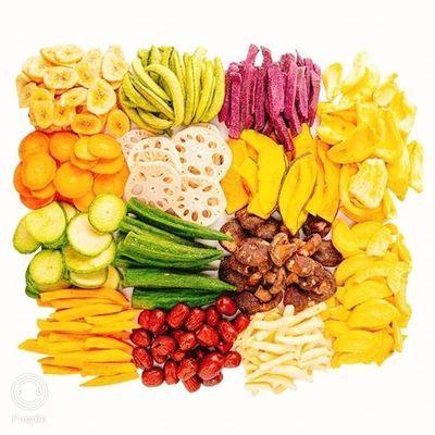 调皮孩 什锦果蔬脆片混合装蔬菜干零食干秋葵香菇儿童250g/500g