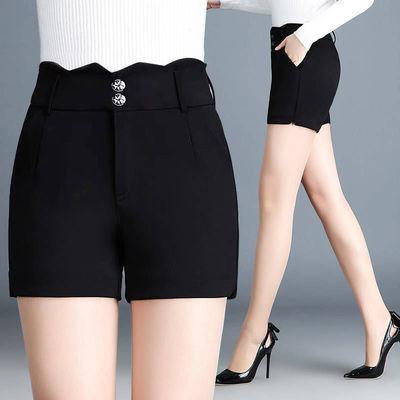 短裤女夏黑色高腰宽松显瘦春秋冬外穿百搭三分靴休闲阔腿裤裤子女