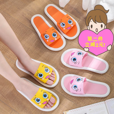 拖鞋女儿童大眼睛笑脸可爱夏季外穿室内网红ins鞋子学生流行凉拖