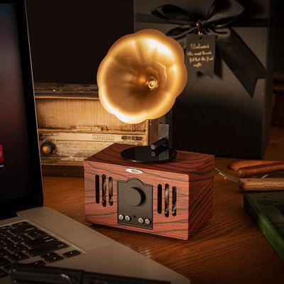 复古创意留声机无线蓝牙小音箱摆件蓝牙艺术品家用小音响插卡送利