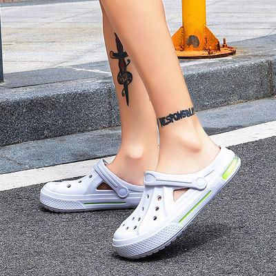 两用洞洞鞋男韩版潮流青少年学生凉拖鞋情侣包头防滑海边沙滩鞋女