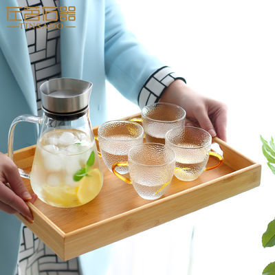 小型竹茶盘家用竹制托盘大小号简约客厅茶台简易实木现代茶具配件