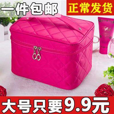 大容量化妆包化妆箱收纳盒韩国简约大小号化妆品包随身便携手提包