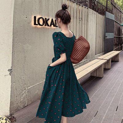 连衣裙女2020新款收腰显瘦雪纺活泼俏皮赫本风甜美法式夏天裙子潮