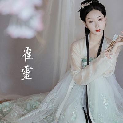 唐制汉服套装女齐胸襦裙仙女学生古装长款大袖衫中国风夏