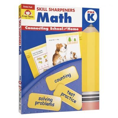 Evan-Moor Math Grade K  技能铅笔刀数学练习册 幼儿园大班