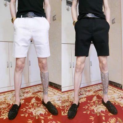 夏季新款休闲百搭西裤短裤社会小伙洋气显瘦五分裤网红ins沙滩裤