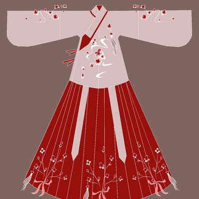 忆佳人原汉服创《暗香》袄裙明制齐腰交领琵琶袖传统刺绣学生