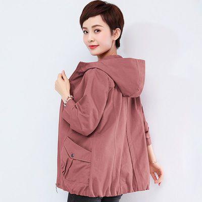 短外套女春秋季韩版大码女装宽松显瘦夹克新款中老年轻洋气妈妈装