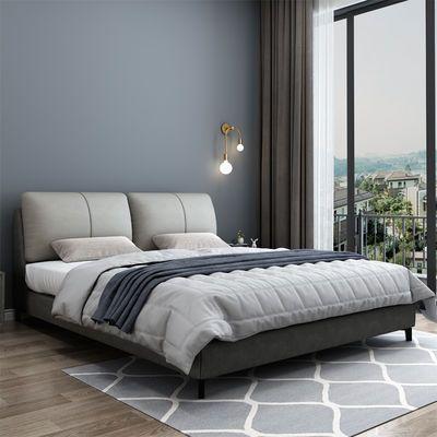 北欧布艺床主卧双人现代简约可拆洗软包1.8米双人小户型1.2米婚床