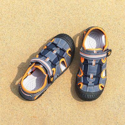 彼得潘正品男童凉鞋4夏季6儿童8小孩鞋10包头11岁小男生沙滩鞋352