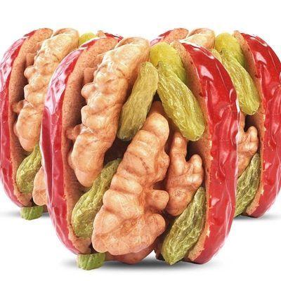 红枣夹核桃葡萄干500g1袋和田枣夹核桃仁