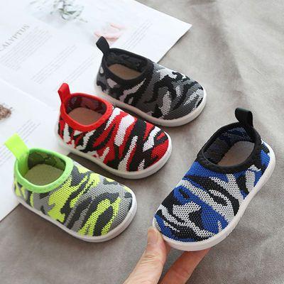 春秋1-2-3岁学步鞋男宝宝运动鞋 儿童鞋女宝宝鞋迷彩单鞋针织袜鞋
