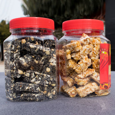(第2桶活动价)花生酥糖黑芝麻糖组合500g/桶1000g2桶义乌手工特产