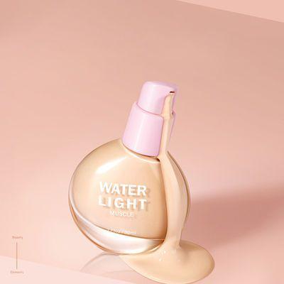 小灯泡粉底液遮瑕提亮肤色遮斑点裸妆控油保湿不易脱妆bb霜30g