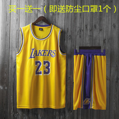 NBA球星球衣篮球服套装比赛队服运动服训练背心湖人詹姆斯23号