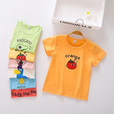女童短袖t恤洋气宝宝衣服2020童装新品小孩子衣服宝宝短袖女上衣