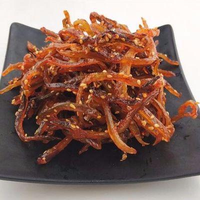 阳江闸坡沙扒香辣鳗鱼丝零食即食鳗鱼干散装网红辣鱼鳗鱼条小鱼干