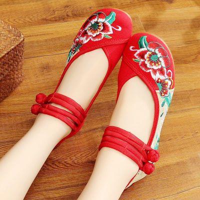 【旅游鞋清仓】绣花鞋子女老北京布鞋妈妈鞋广场舞鞋运动鞋女单鞋