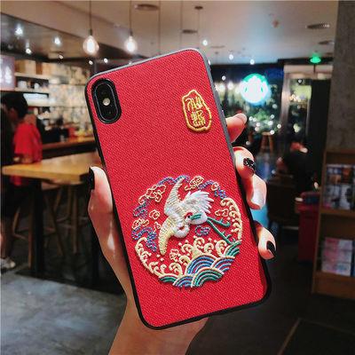 宫廷风刺绣华为mate20pro手机壳P30/P20情侣nova5/4/3荣耀9X苹果X