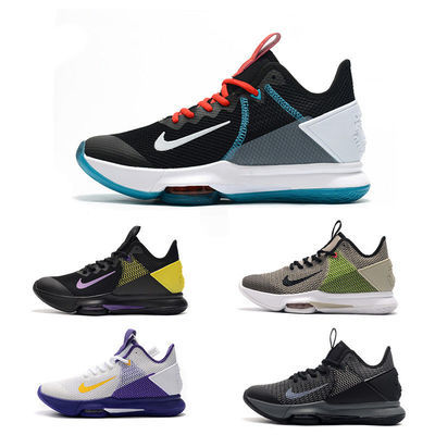 詹姆斯篮球鞋男子中高帮见证4代战靴耐磨防滑实战运动鞋