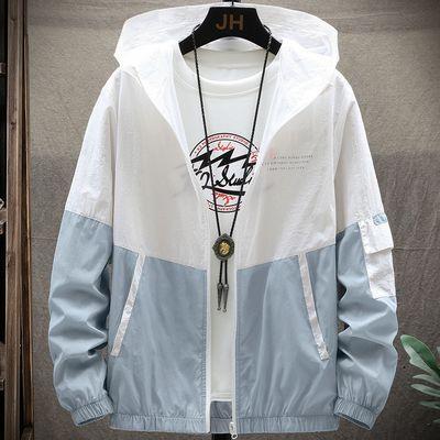47145/防晒衣男冰丝空调衣2020新款潮流宽松透气薄款学生情侣春秋夹克衫
