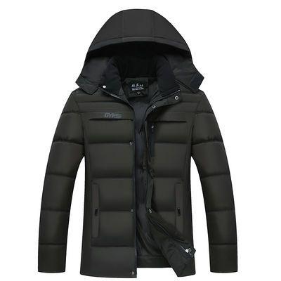 爸爸装外套中老年棉衣男加绒加厚保暖棉袄中年人男士冬装棉服男装