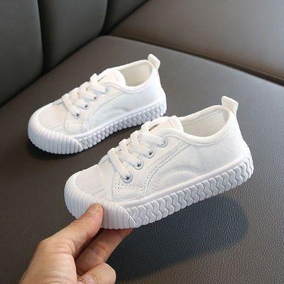 2020春季新款韩版儿童糖果色帆布鞋男女童休闲饼干鞋宝宝鞋小白鞋
