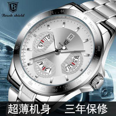 新款瑞士全自动机芯时尚商务镂空超薄钢带男士手表防水夜光非机械