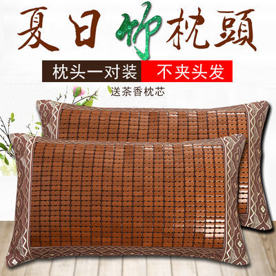 夏天凉枕头套装一对装枕头芯成人一只个可爱枕套单人家用护颈椎枕