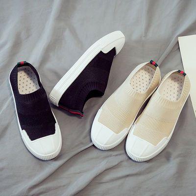2020夏季新款黑色帆布鞋女韩版百搭学生一脚蹬懒人板鞋运动老爹鞋