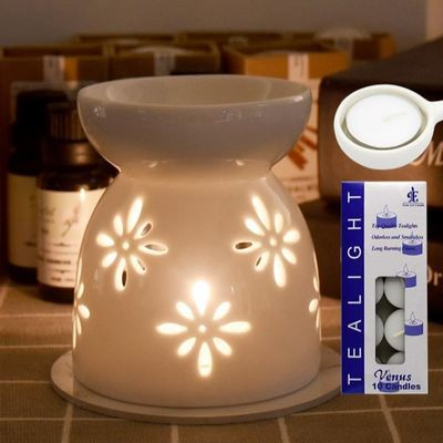 香薰精油专用白色陶瓷炉香薰炉蜡烛托盘套装酒店美容院浪漫香薰灯