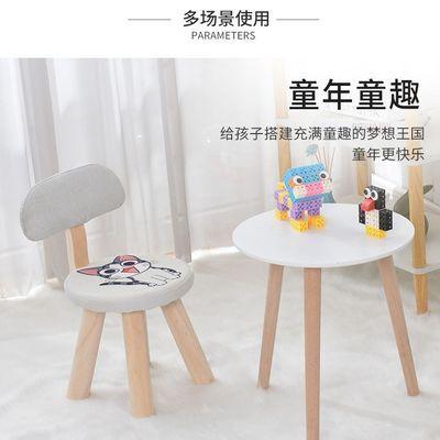 热卖儿童凳子靠背小椅子实木创意可爱卡通动物幼儿园小板凳家用宝