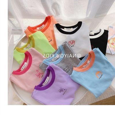 鱼在游福利款!女童短袖t恤夏季韩新洋气宝宝打底衫棉薄款儿童T恤