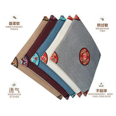 热卖中式亚麻坐垫夏季餐椅垫特色刺绣红木沙发官椅座垫中国风古典