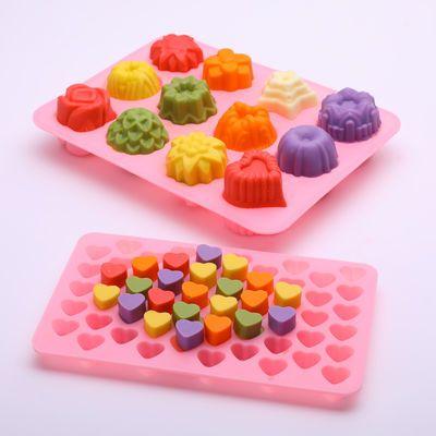 家用创意卡通硅胶制冰格冰淇淋冰块布丁果冻手工皂巧克力烘焙模具