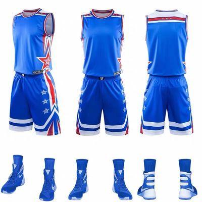 新款篮球服套装男团队定制DIY印号球衣 大学生联赛球服国潮流队服