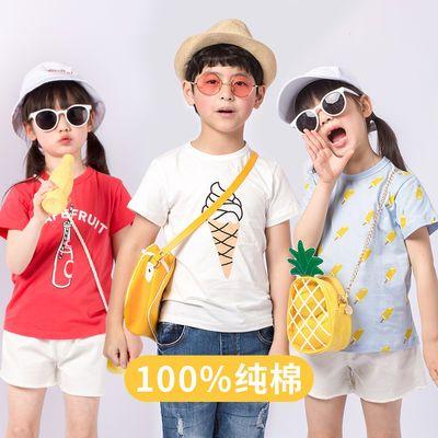 夏季洋气短袖t恤纯棉潮童宝宝韩版中大童儿童男女孩半袖上衣女童
